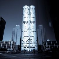 Cyan Vision: Twin Towers by 1uno