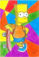 the Simpsons - Bart simpson by HIMURAPT89