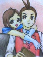 Apollo and Trucy by Chips13