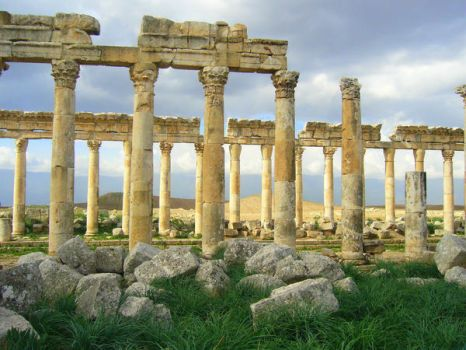 Apamea ruins in Syria by ophelia1984