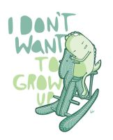 I Don't Want to Grow Up by recycledwax