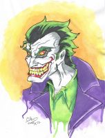 The Joker Marker and colored Pencil by Kristov-C077X