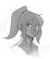 Possible Korra face? by Krekka01