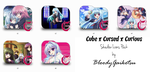 Cube x Cursed x Curious Shadow Icons Pack by BloodyGaikotsu