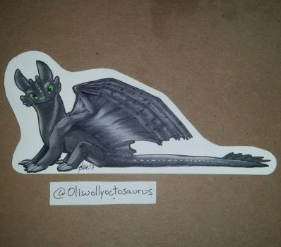 Tiny Toothless  by Oliwollyoctosaurus