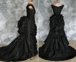 Gothic Victorian Bustle Gown with Train by Alice-Corsets