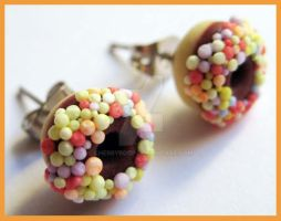 Donut Stud Earrings by cherryboop
