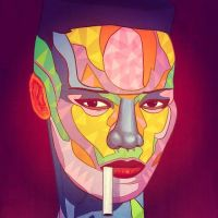 Grace Jones with Cigarette by URI of Barcelona by MICHAEL-BALBOA