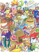 All of the Okage monsters by Shinyako