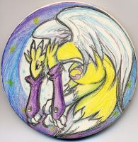Digimon - Renamon Coaster by splashgottaito