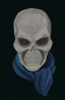 Ghost Rider Percy Skull WIP by ConstantScribbles