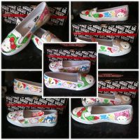 Tokidoki KVD Hello Kitty Vans by VeryBadThing