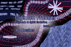Digimon Frontier Digicode Brush Set by NelaNequin