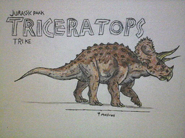 Jurassic Park: Triceratops (Trike) by Alien-Psychopath