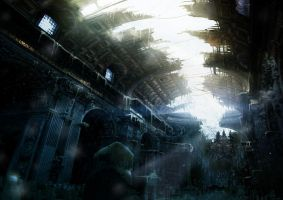 "Matte Painting ""Paranoia"" n3 by Grivetart"