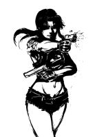 Revy from Black Lagoon by AvikMullick