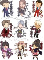 Phoenix Wright: CHIBIS by xXkura-chanXx