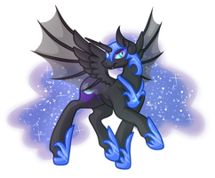.:Contest Entry:. Nightmare Moon by Amazing-ArtSong