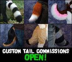 JILLCOSTUMES Custom Tail Commissions are OPEN! by jillcostumes