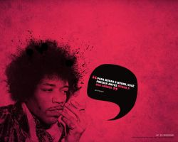 Jimi Hendrix Thinks by fmdesigner