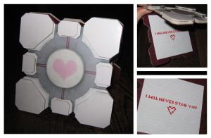 Companion Cube Card by batman-n-bananas