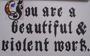 Black-lettering by onlypinkflamingo