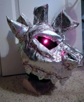 Finished Head: Steampunk Dragon  by RageandRoarCustoms