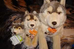 WWF plush wolf family by Vesperwolfy87