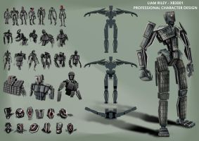 Character design sheet for my 3000 poly model. by Furious-Midget