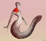 West African Lungfish Mermaid by Lenecian9
