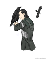 Loki, Hugin and Munin by GoreChick
