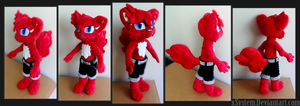 OC Plushie - Lhancat by xSystem
