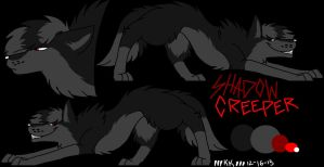 ShadowCreeper ref. sheet by xRainbowDawnx