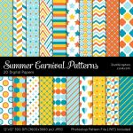 Summer Carnival Patterns by MysticEmma
