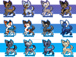 Puppy Adoptables - OPEN -lowered Prices by BarkinWeasel