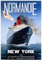 Normandie poster by 121199