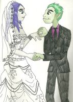 The Wedding Prelim Drawing by physicsgoddess