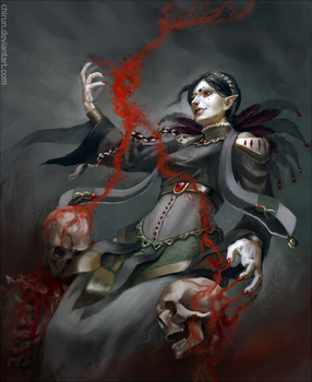 Commission: The Blood Mage by chirun