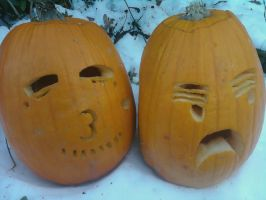 FrUK pumpkins by flyingsaucerscout