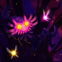 Majora's Mask - skull kid by asunnyspirit