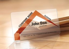 Free Translucent Plastic Realtor Business Card by BorceMarkoski