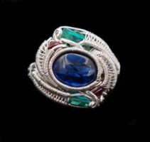 Blue Kyanite ring by nonomie