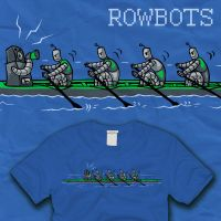 Row of Rowbots Rowing by amegoddess