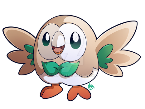 Rowlet by mako--eyes
