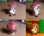 Mushroom man figurine COMMISSION by Zanten