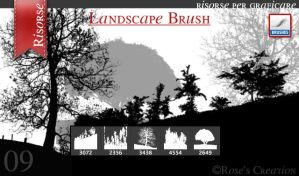 Landscape Brush by dreamswoman