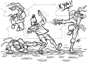 Attack of the Bananinjas by bonisol