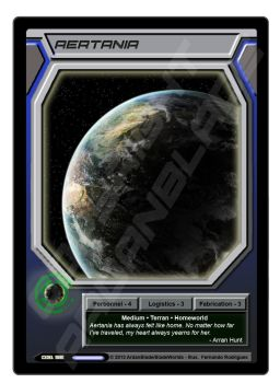 Star's End CCG - Aertania Homeworld Card by ArdanBlade