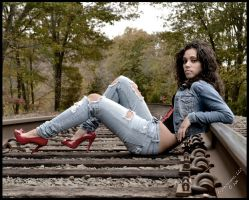 Heels on the Tracks by AcoresLisboa