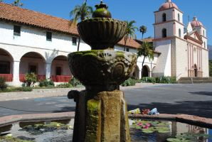 Fountain at the Santa Barbara Mission by ColonelKR